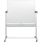 Tableau blanc rotatif sur piètement Nobo 1500 x 1200 mm