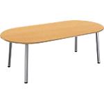 Table de réunion oblongue Congrès 2100 x 1020 x 730 mm Imitation Hêtre