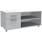 Console mobile Adjust 1 000 x 602 x 612 mm Blanc