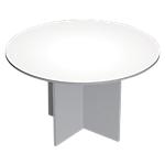 Table de réunion Quadra 120 (L) x 120 (P) x 72 (H) cm Blanc