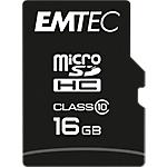 Carte mémoire MicroSD EMTEC Class 10 microSDHC Noir