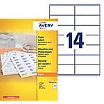 Étiquettes Avery DP143 100 Blanc 39 x 105 mm 100 Feuilles de 14 Étiquettes