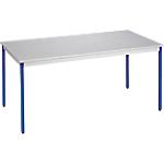 Table de réunion modulaire rectangulaire Domino 140 x 70 x 74 cm Gris