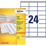 Étiquettes Avery DP245 100 Blanc 35 x 70 mm 100 Feuilles de 24 Étiquettes