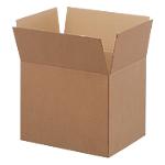 Boîte d'archivage Niceday Carton ondulé double cannelure 494 x 394 x 388 mm Marron   10 Unités