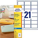 Étiquettes d'adresses AVERY Zweckform J8560 25 Transparent 525 étiquettes 525 étiquettes