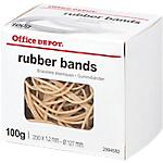 Boîte de 100g de bracelets élastiques   Office DEPOT   200 mm