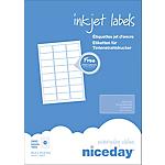 Étiquettes d'adresses Niceday Blanc 33,9 x 63,5 mm 100 Feuilles de 24 Étiquettes