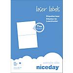 Étiquettes d'adresses Niceday Blanc 148 x 210 mm 100 Feuilles de 2 Étiquettes