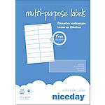 Étiquettes multifonctions Niceday 980456 Blanc 1600 étiquettes 100 feuilles de 16 étiquettes