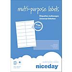 Étiquettes multifonctions Niceday 980457 Blanc 1400 étiquettes 100 feuilles de 14 étiquettes