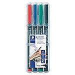 Rotulador OHP STAEDTLER Lumocolor 318 punta de fibra colores surtidos 4 unidades