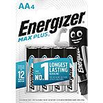 Pila alcalina Energizer Max Plus AA, Batería de un solo uso, AA, Alcalino, 1,5 V, 4 pieza(s), Alto E301323600