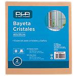 Bayeta cristales PLA poliéster, viscosa, resina sintética 40 x 35 cm beige 2 unidades