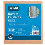 Bayeta cristales PLA poliéster, viscosa, resina sintética 40 x 35 cm beige 12 unidades