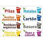 Etiquetas identificadoras Avery papel & cartón, vidrio, envases, plástico, orgánica, basura general, tetrapak, latas, plástico, pilas, metales, aceites domestico, carton, residuos organicos, basura, plástico y metales, ropa y calzado, vidrio claro, vidrio oscuro, papel, medicamentos, rsu urban solid waste, basura organiza, basura electrónica, cartuchos de tinta 12 x 4,5 cm 3 hojas de 8 unidades