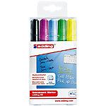 Marcador para pizarra edding 90 redonda 3 mm negro, violeta, amarillo, azul claro, verde claro 5 unidades