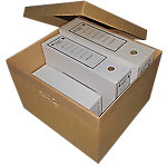 Caja Box Cart S.L. cartón ondulado doble cara Canal C3 marrón 330 (A) x 235 (P) x 105 (H) mm 25 unidades