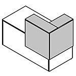 Mostrador ángulo izquierda QUO arce, patas arce 800 x 300 x 800 mm