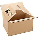 Caja embalaje Fixo Canal sencillo 3 mm marrón 260 (A) x 100 (P) x 210 (H) mm 10