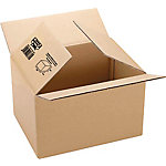 Caja embalaje Fixo Canal sencillo 3 mm marrón 483 (A) x 275 (P) x 350 (H) mm 10