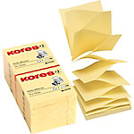 Notas adhesivas Kores amarillo 12 unidades