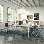 Silla de oficina Quadrifoglio CLUE gris antracita, blanco