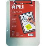 Clipboard APLI 13780 transparente plástico
