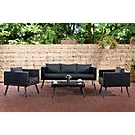 Set de Jardín Lounge negro