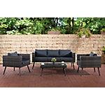 Set de Jardín Lounge gris moteado