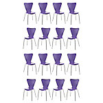 Silla confidente CALISTO púrpura 16 unidades