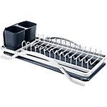 Escurridor de platos y cubiertos IBILI negro, blanco 5 x 16 x 7 cm