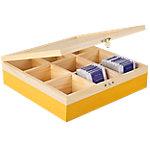 Caja de té IBILI amarillo 24 x 24 x 7 cm
