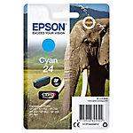 Cartucho de tinta Epson Elephant Cartucho 24 cian (etiqueta RF) C13T24224022