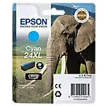 Cartucho de tinta Epson Elephant Cartucho Epson 24XL cian (etiqueta RF), Original, Cian, XP 750
