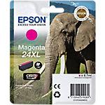 Cartucho de tinta Epson Elephant Cartucho Epson 24XL magenta (etiqueta RF), Original, Tinta a base de pigmentos, Magenta, XP 750