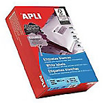 Etiqueta adhesiva APLI 01787 blanco 210 x 148 mm 500 hojas de 2 etiquetas