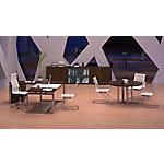Mesa de dirección Volga con vade de cristal 200 x 90 cm nogal, patas platino