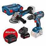Bosch 0615990K93 Set profesional taladro + atornillador GSB 18V 28 + amoladora GWS 18V 125 C en L Boxx BOSCH 0615990K93