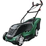Cortacésped rotativo Universal Rotak 450 Motor Power Drive 1300W 35cm Frontal color aluminio Asas ergonómicas BOSCH 06008B9000