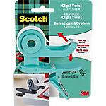 Dispensador de mano Post it Scotch Clip & Twist turquesa