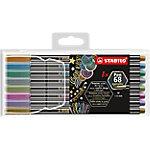 Rotulador STABILO Pen 68 metallic 1.4 mm colores surtidos 8 unidades