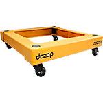 Carro modular Dozop 2 módulos 4 ruedas polipropileno amarillo