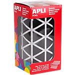 Gomets triangulares en rollo APLI negro 1770 etiquetas