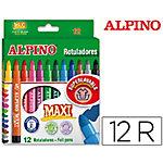 Rotuladores Alpino Maxi surtido 12 unidades