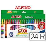 Rotuladores Alpino Maxi 6 mm surtido 24 unidades