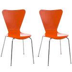 Pack 2 sillas Calisto naranja