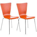 Pack 2 sillas Aaron naranja