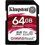 Kingston Technology SD Canvas React memoria flash 64 GB SDXC Clase 10 UHS I