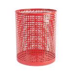 Papelera metálica Foray Mesh rojo metal